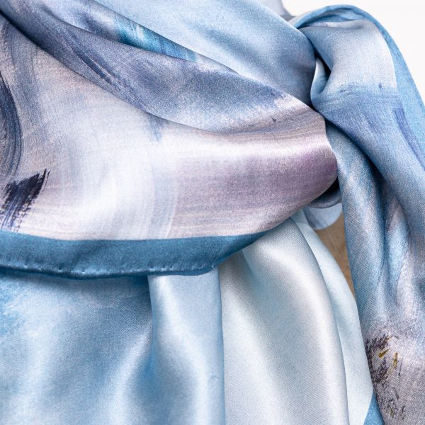 Silk Scarf - Mimi, a close up image.
