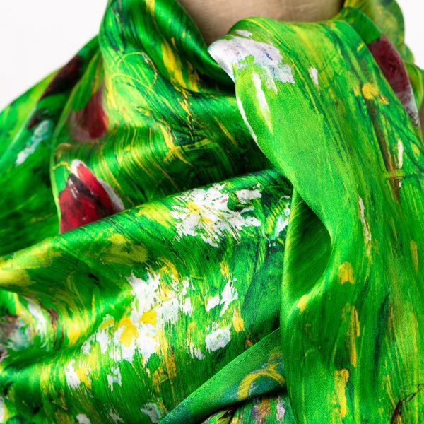 Silk Scarf - Olivia, a close up image