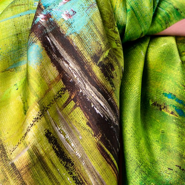 Silk Scarf - Amelie, a close up image