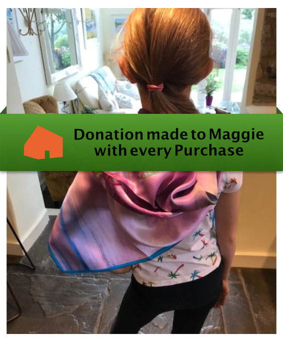 The Agnes Silk Scarf donations made to Maggie's with every purchase